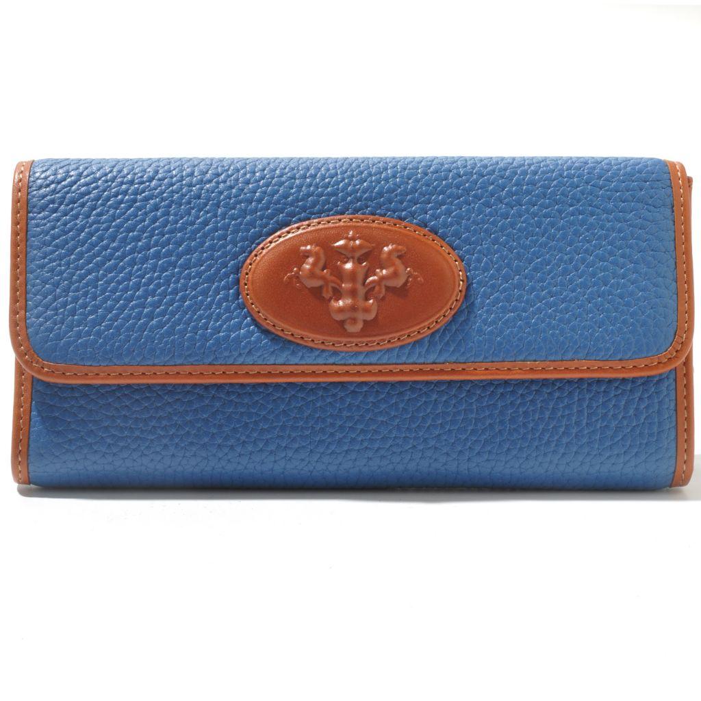 709-939 - PRIX DE DRESSAGE Leather Flap-Over Wallet w Zippered Coin ...