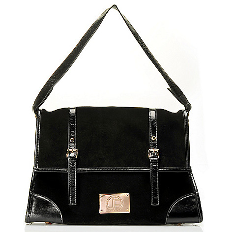 710-017 - Jack French London Suede & Leather ''Montpellier'' Shoulder Bag