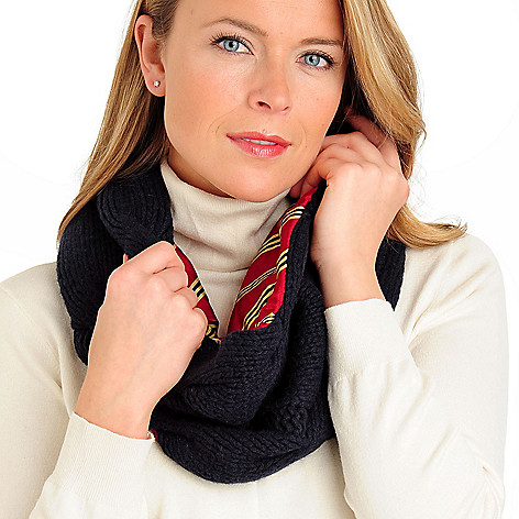 710-067 - Brooks Brothers® Women's Cable Knit Lambswool Cowl Scarf