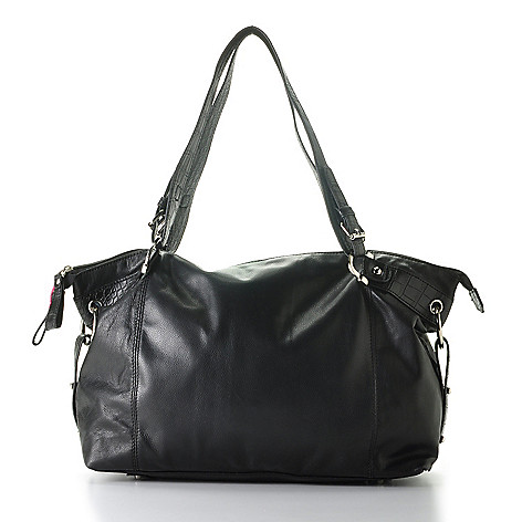 710-135 - Madi Claire Soft Leather ''Sable'' Zip Top Tote Bag