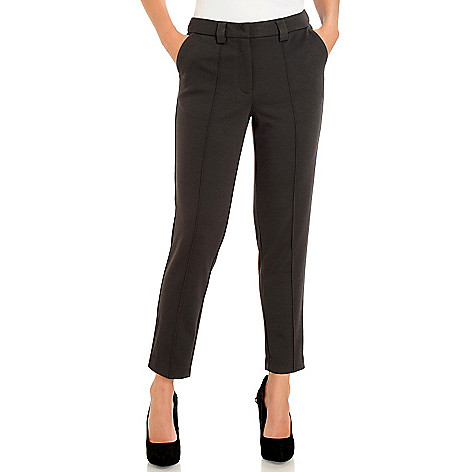 710-589 - WD.NY Stretch Ponte Two-Pocket Ankle Length Pants