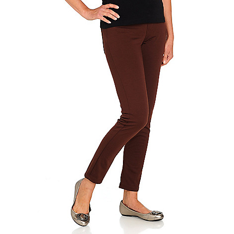710-594 - Kate & Mallory Stretch Ponte Pocket Detail Pull-on Pants