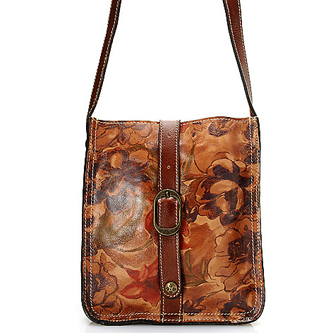 710-602 - Patricia Nash Leather Zip Top Cross Body Bag