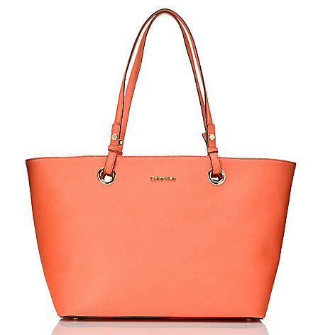710-685 - Calvin Klein Handbags Saffiano Leather East/West Medium Tote