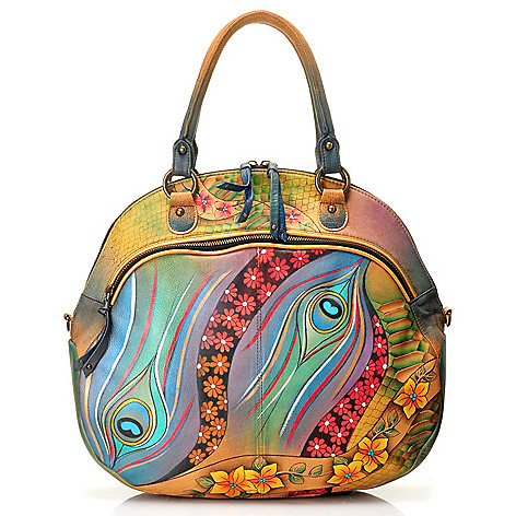 710-860 - Anuschka Hand-Painted Leather Extra Large Shopper Handbag