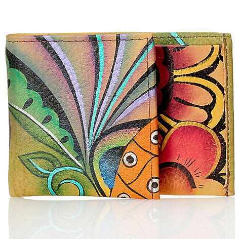 710-863 - Anuschka Hand-Painted Leather Mini Coffee Break Wallet