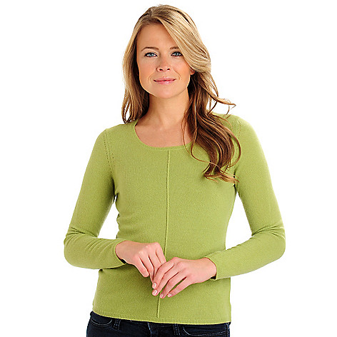 710-872 - Lusso 100% Two-Ply Cashmere Long Sleeved Crew Neck Sweater