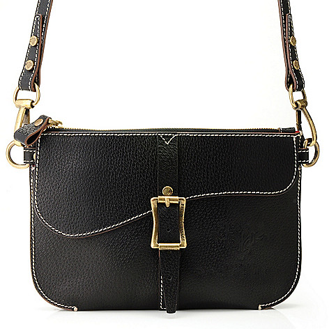 710-963 - PRIX DE DRESSAGE Leather Zip Top Cross Body Bag