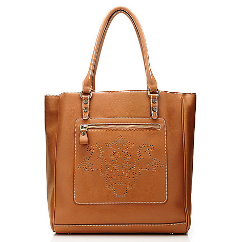710-969 - PRIX DE DRESSAGE Leather ''Stature'' Perforated Tote Bag
