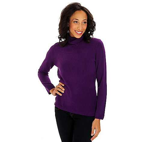 711-020 - Geneology Ultra Soft Long Sleeved Ribbed Detail Turtleneck Sweater
