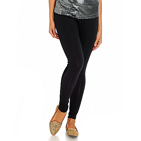 711-113 - WD.NY Stretch Knit Velvet Trimmed Tuxedo Leggings