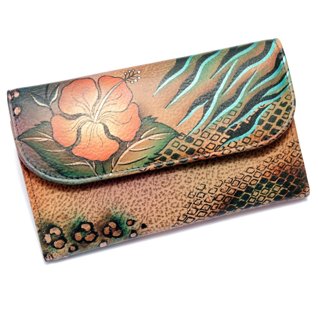 711-119 - Anuschka Hand-Painted Leather Trifold Wallet