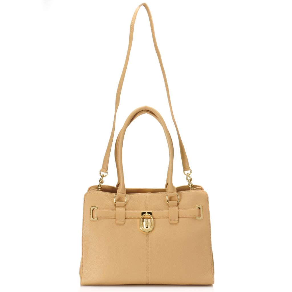 711-122 - Calvin Klein Handbags Pebbled Leather Convertible Satchel