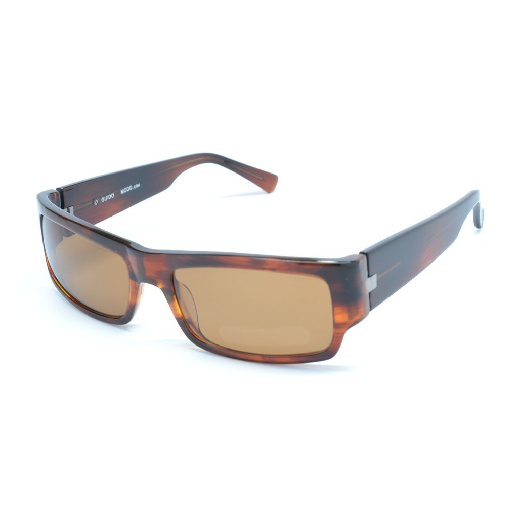 711-207 - Modo Guido Dark Acorn Polarized Unisex Designer Sunglasses