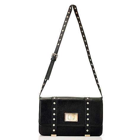 711-240 - Jack French London ''Connaught'' Pyramid Studded Leather Shoulder Bag
