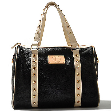 711-241 - Jack French London ''Bloomsbury'' Double Handled Stud Detailed Leather Satchel