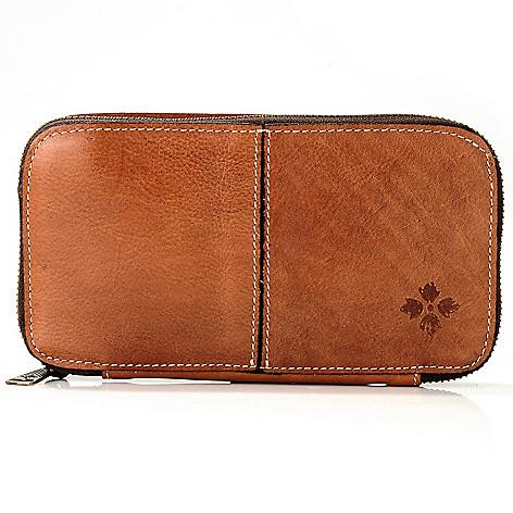 711-253 - Patricia Nash Leather Zip Around Wallet