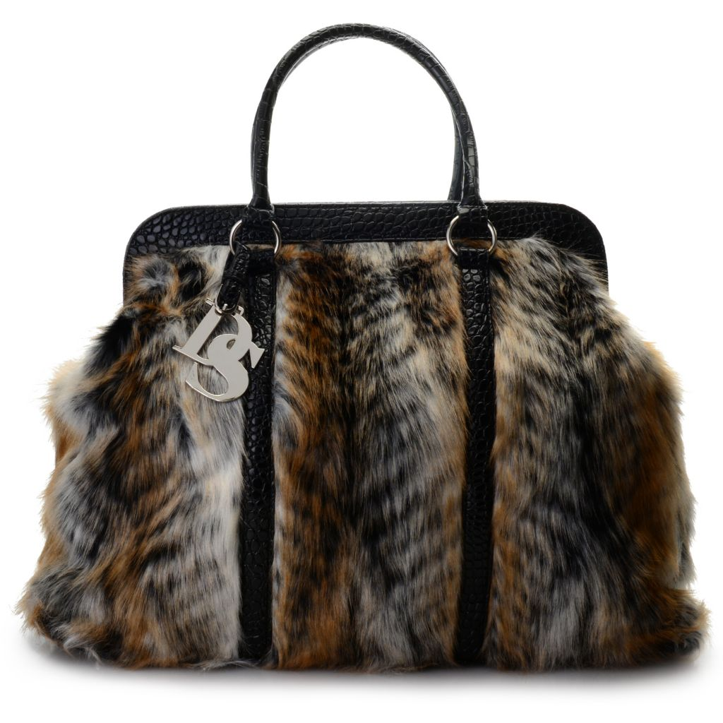 711-441 - Donna Salyers' Fabulous-Furs Faux Fur Weekender Tote Bag