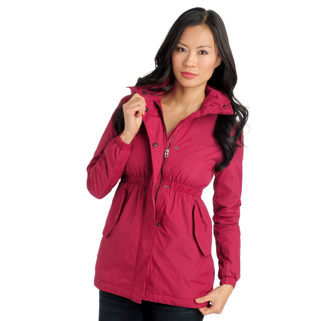 711-468 - Members Only Nylon Cinched Waist Packable Hood Anorak Jacket
