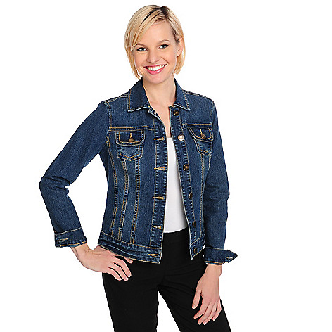 711-576 - OSO Casuals Stretch Denim Long Sleeved Button-up Jean Jacket