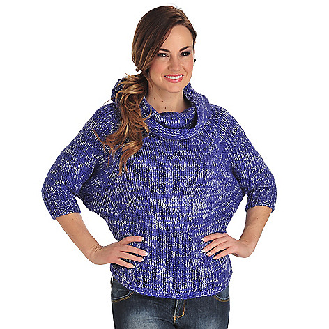 711-816 - Oso Casuals® Chunky Knit Raglan Sleeved Cowl Neck Pullover Sweater