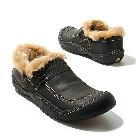 711-817 - Jambu Leather ''Stowe'' Faux Fur Lined Slip-on Shoes