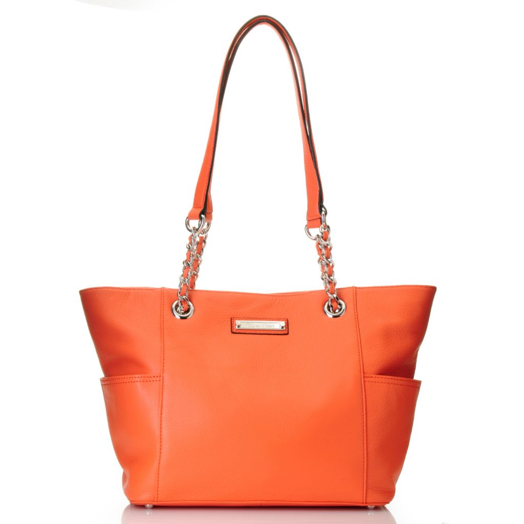 711-938 - Calvin Klein Handbags Pebbled Leather Tote