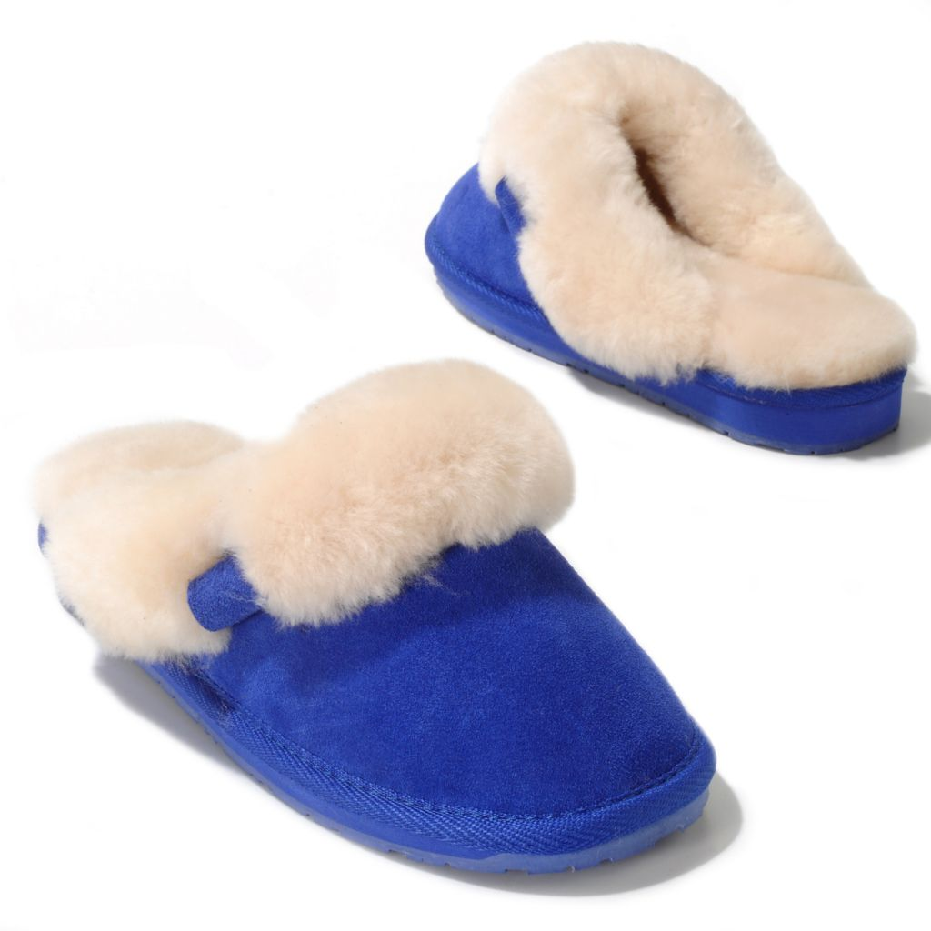711-943 - EMU® Sheepskin & Suede Leather Slippers
