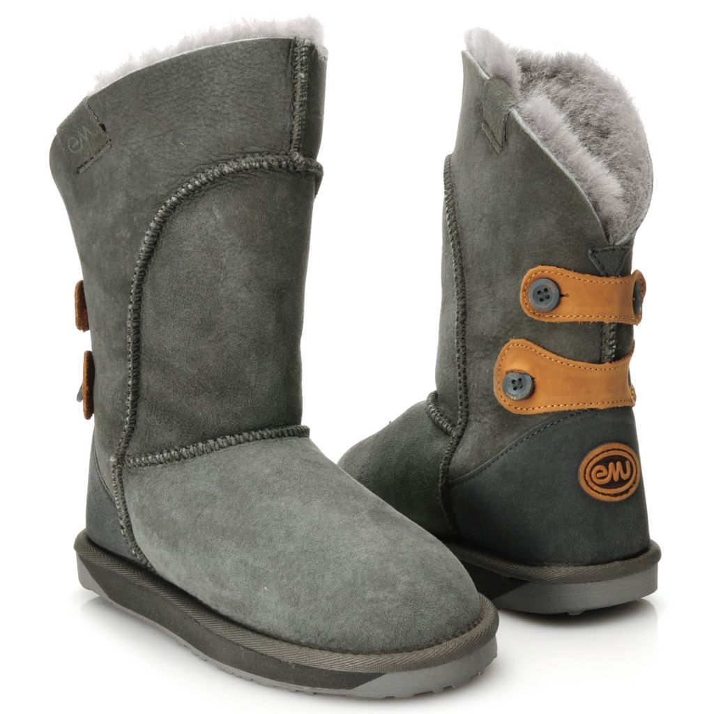 711-944 - EMU® Sheepskin Button Detailed Mid-Calf Boots