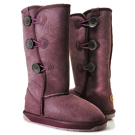 711-946 - EMU® ''Coombell'' Sheepskin Side Button Convertible Mid-Calf Boots
