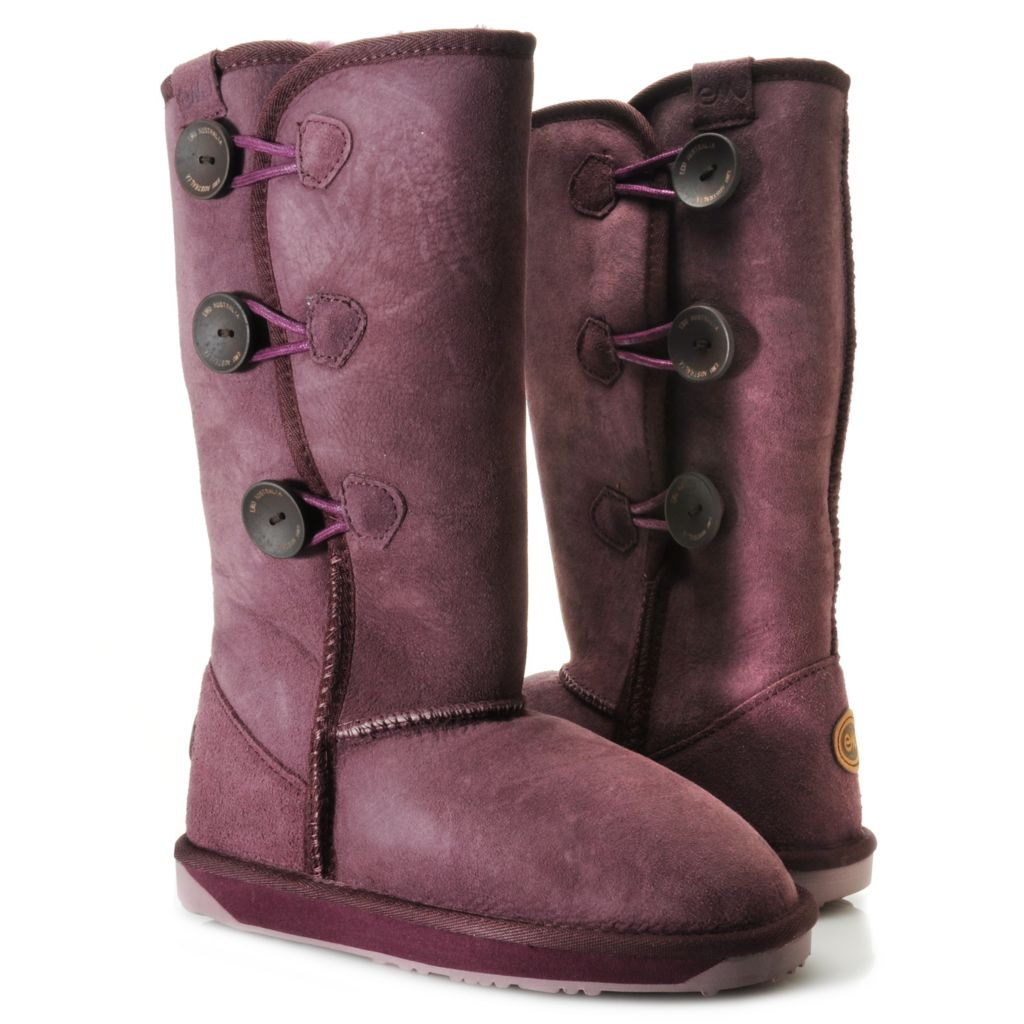711-946 - EMU® Sheepskin Side Button Convertible Mid-Calf Boots