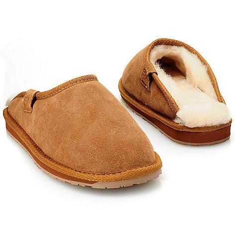 711-949 - EMU® Men's Sheepskin & Suede Leather Slippers