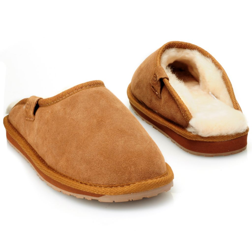 711-949 - EMU® Men's Sheepskin & Suede Leather Slippers