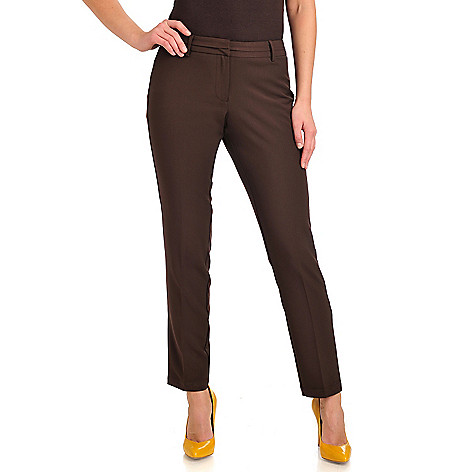 711-957 - Geneology Stretch Woven Straight Leg Tab Closure Pants