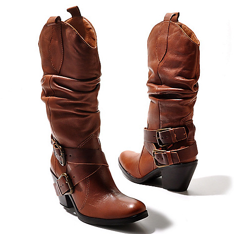 711-967 - Matisse® Leather ''Willie'' Mid-Height Slouch Boots