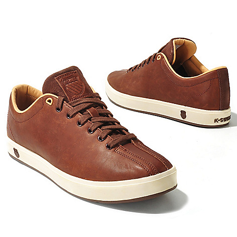 712-067 - K-Swiss® Men's Leather ''Clean Classic'' Sneakers