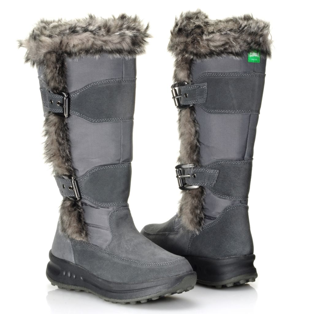 712-115 - Cougar® Footwear Waterproof Faux Fur Trimmed Insulated Knee-High Boots
