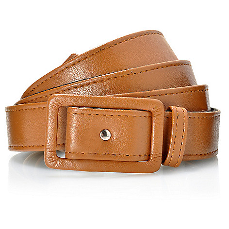 712-124 - Kate & Mallory Faux Leather Square Buckle Adjustable Belt