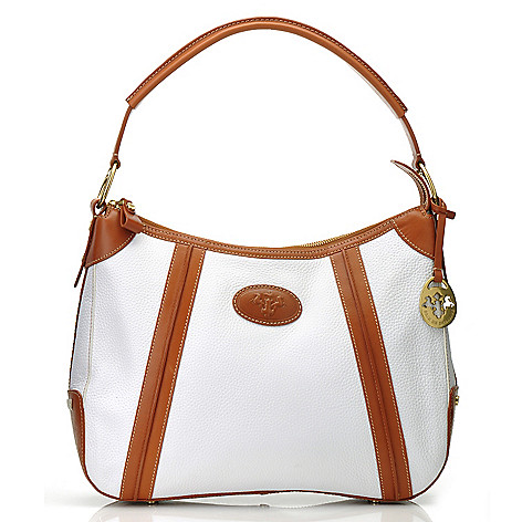 712-133 - PRIX DE DRESSAGE Leather Zip Top Hobo Bag