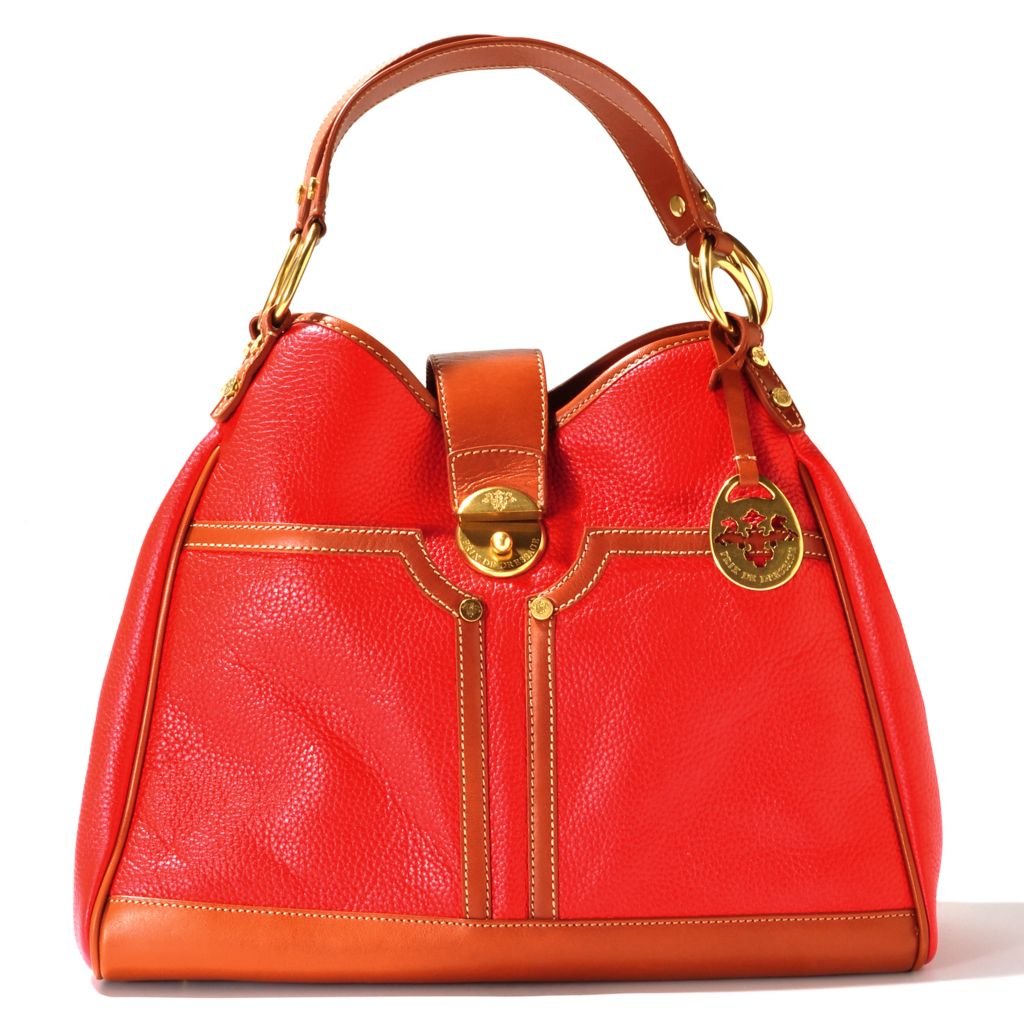 712-138 - PRIX DE DRESSAGE Leather Double Handle Classic Satchel