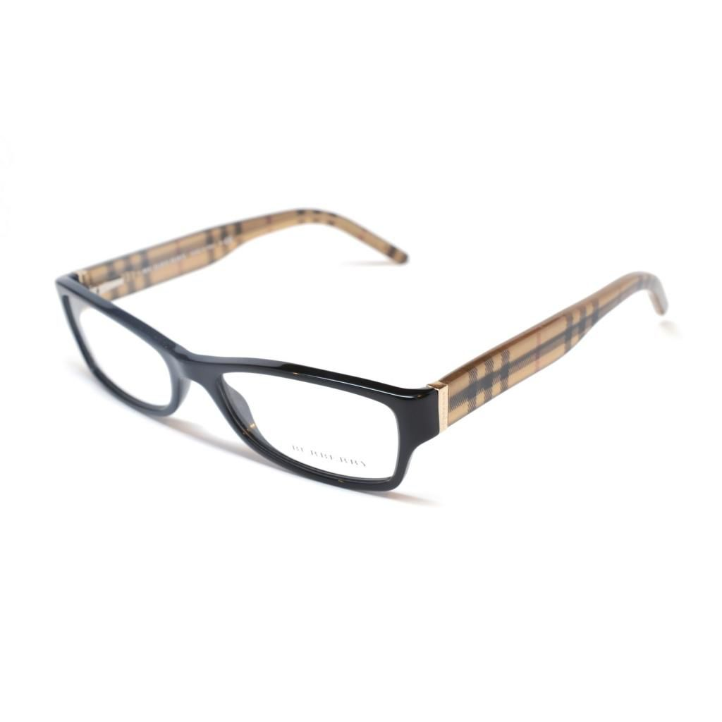 712-182 - Burberry Women's 2094 3001 Shiny Black Designer Eyeglasses