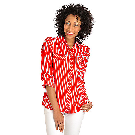 712-380 - Geneology Woven Roll Tab Sleeved Chest Pocket Collared Shirt
