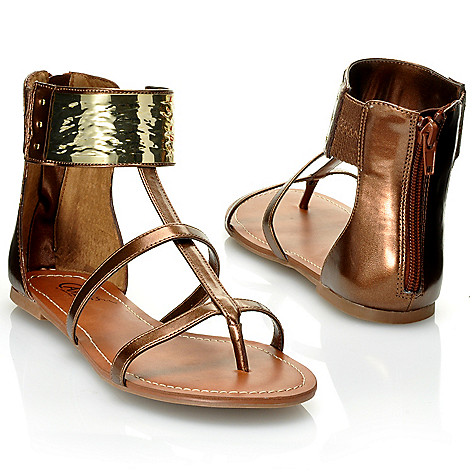 712-536 - Carlos by Carlos Santana ''Flavia'' Back Zip Metallic Sandals