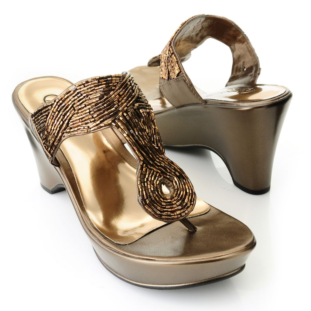 "712-545 - Carlos by Carlos Santana ""Campbell"" Beaded Sandals"