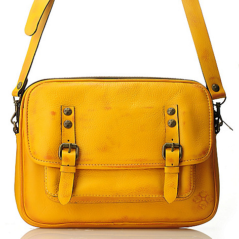 712-550 - Patricia Nash Leather Zip Top Cross Body Bag