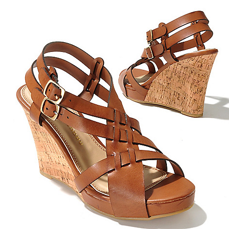 712-580 - Chinese Laundry ''Double Up'' Crisscross Wedge Sandals