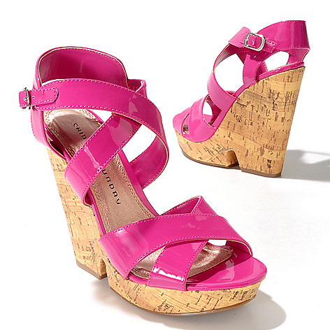 712-582 - Chinese Laundry ''Gum Drop'' Crisscross Cork Wedges
