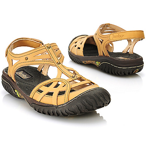 712-606 - Jambu Leather ''Coconut'' Cut-out Sandals