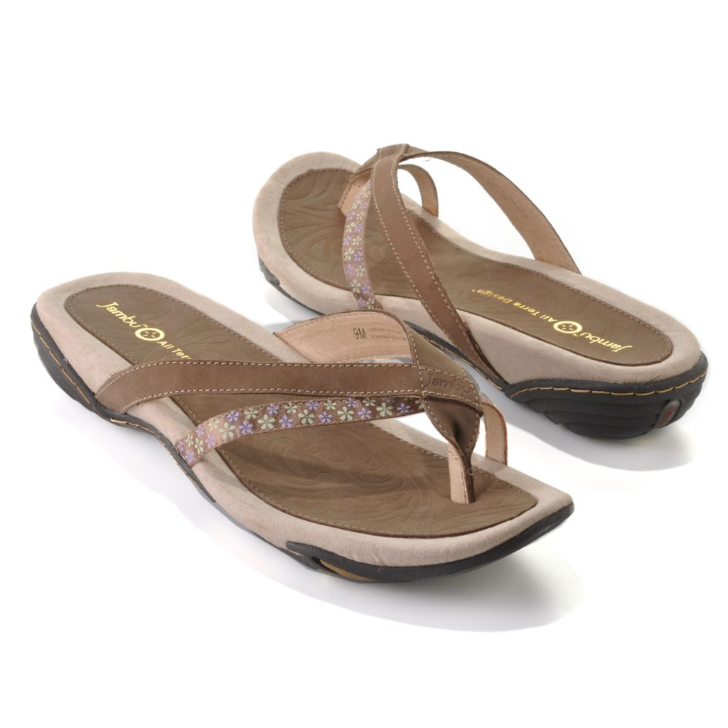 "712-616 - Jambu Leather ""Capetown"" Slip-on Toe Ring Thong Sandals"
