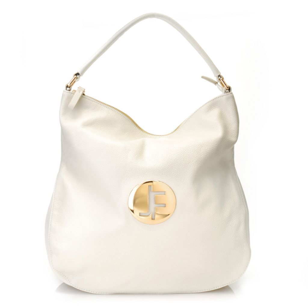"712-639 - Jack French London Leather ""Angel"" Zip Top Hobo Handbag"